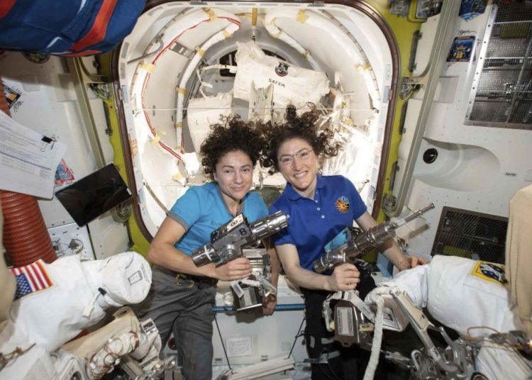 Female team makes history, fixes power network at Int'l Space Station