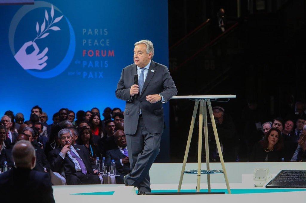 UN chief speaks heart out at Paris Peace Forum