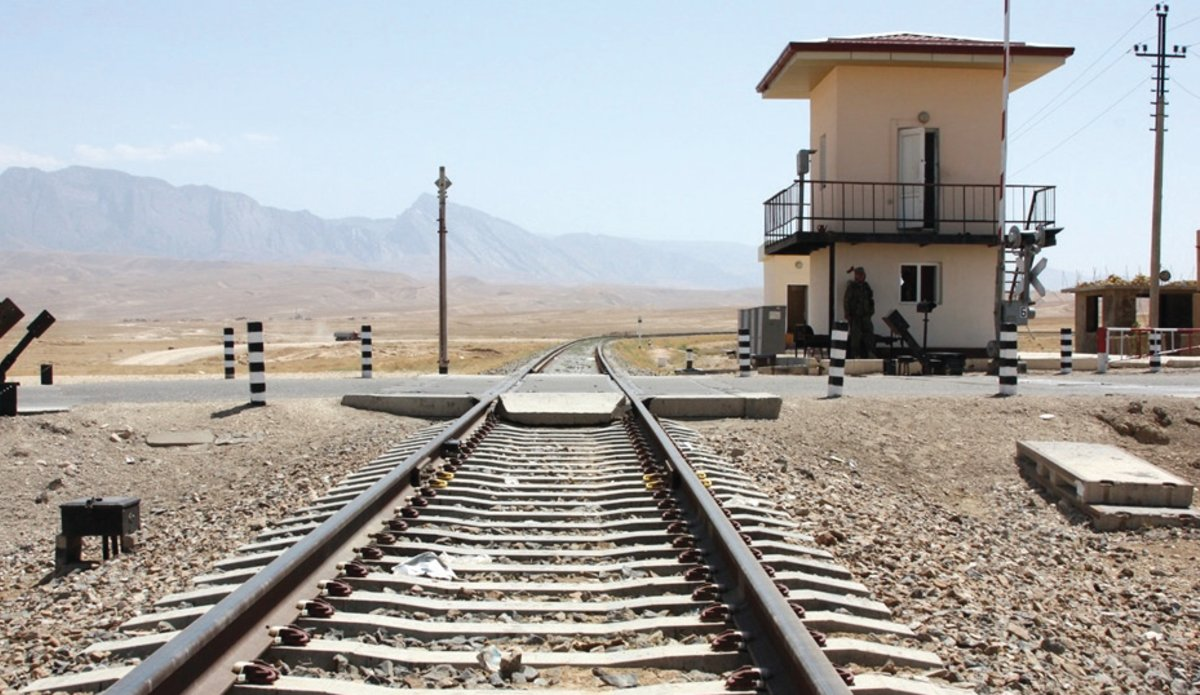 A view of railroad in Afghanistan