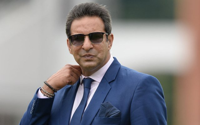 Wasim Akram a at Lord's Stadium in London on June 23, 2019