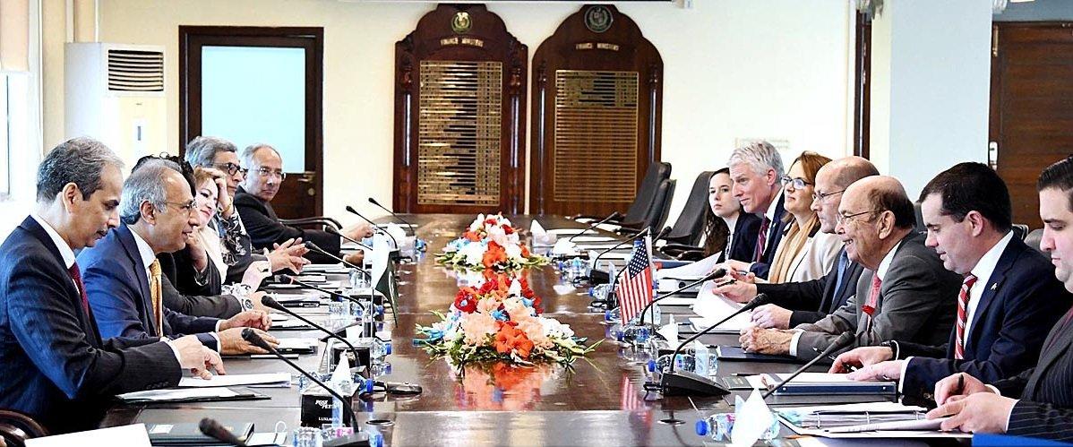 United States Commerce Secretary Wilbur Ross called on Adviser on Finance and Revenue Dr Abdul Hafeez Shaikh in Islamabad.