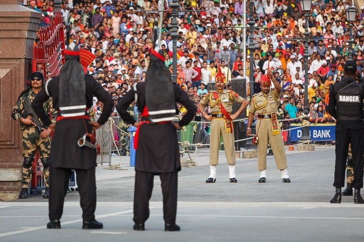 A file photo of Wagha Border between Pakistan and India