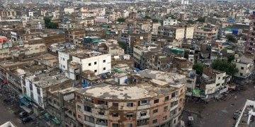 A top view of residential area in Karachi. File photo