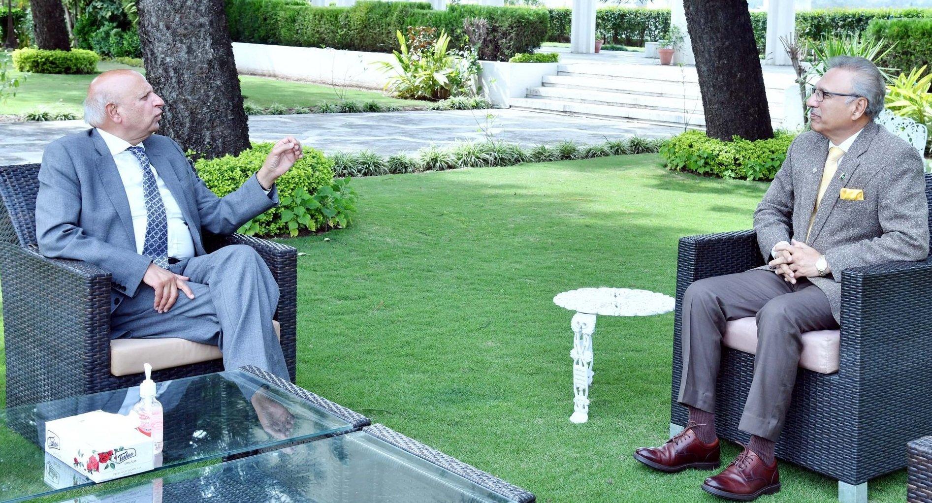 Governor Muhammad Sarwar with President Dr Arif Alvi