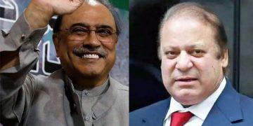 Nawaz to be declared absconder, bailable warrants for Zardari's