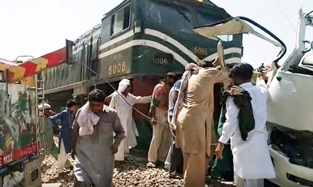 Sheikhupura train van collision