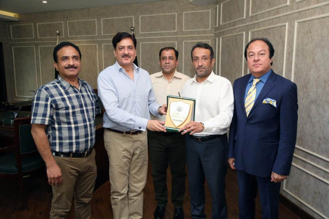 National Logistics Cell delegation called on LCCI office-bearers