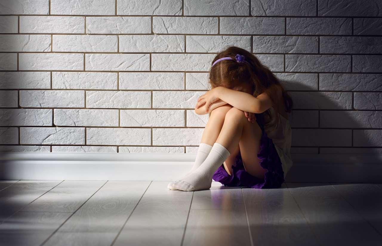 the little girl is afraid